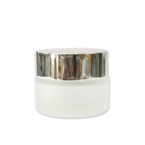 銀蓋玻璃面霜盒20ml