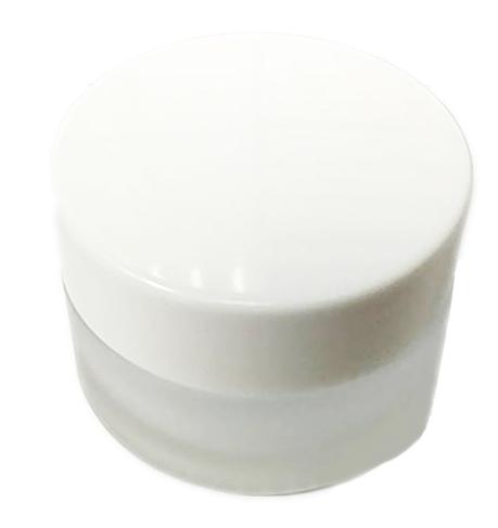 白色玻璃面霜罐20g