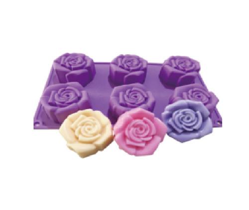 六連玫瑰矽膠模
